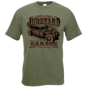 T-PAITA OLIV - JUNKYARD  -painatus valitsemaasi paitaan