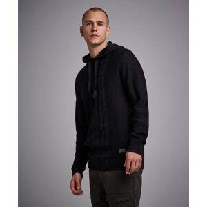 Adrian Hammond Strikket genser Robinson Knitted Hood Grå