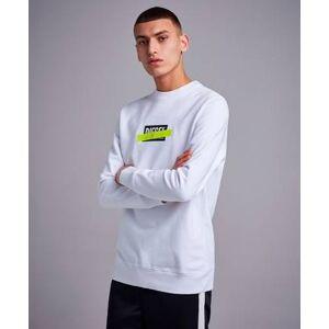 Diesel Klær Gensere og jakker Sweatshirts Male Hvit
