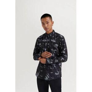JUNK de LUXE Klær Skjorter Mønstrete skjorter Male Svart