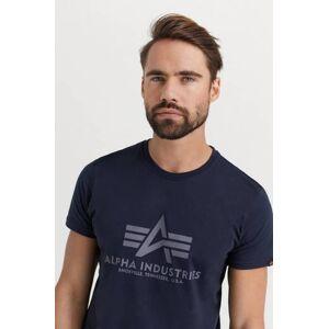 Alpha Industries T-Shirt Basic T-Shirt Blå  Male Blå