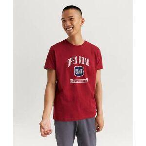 Gant Klær T-shirt T-shirts med logo eller trykk Male Rød