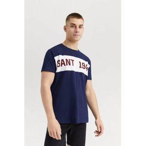 Gant Klær T-shirt T-shirts med logo eller trykk Male Blå