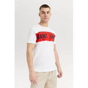 Gant Klær T-shirt T-shirts med logo eller trykk Male Hvit