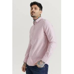 Filippa K Klær Skjorter Ensfargete skjorter Male Rosa