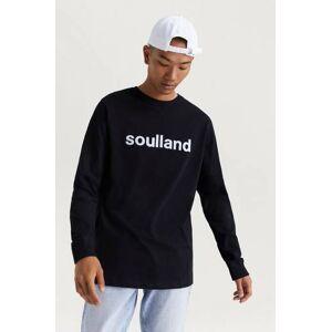 Soulland Klær Gensere og jakker Langermede T-shirts og bestefargensere Male Svart