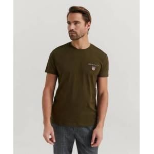 Gant Klær T-shirt T-shirts med logo eller trykk Male Grønn