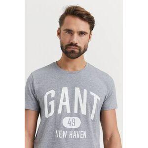 Gant Klær T-shirt T-shirts med logo eller trykk Male Grå
