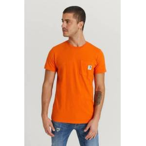 Diesel Klær T-shirt Ensfargete T-shirts Male Orange