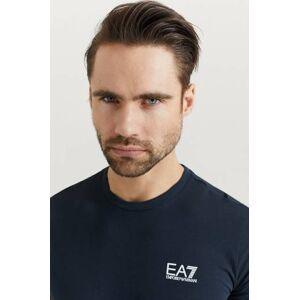 Giorgio Armani Klær T-shirt Ensfargete T-shirts Male Blå