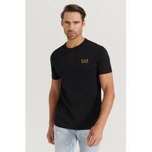 Giorgio Armani Klær T-shirt Ensfargete T-shirts Male Svart