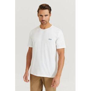 Boss Klær T-shirt T-shirts med logo eller trykk Male Hvit