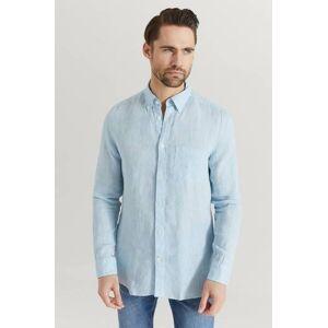 J.Lindeberg Klær Skjorter Ensfargete skjorter Male Blå