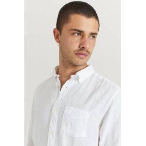 Gant Klær Skjorter Ensfargete skjorter Male Hvit
