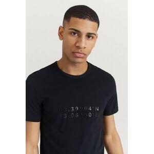 Peak Performance Klær T-shirt T-shirts med logo eller trykk Male Svart