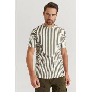 Just Junkies Klær T-shirt Stripete T-shirts Male Grønn