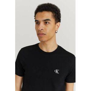 Calvin Klær T-shirt T-shirts med logo eller trykk Male Svart