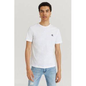 Calvin Klær T-shirt T-shirts med logo eller trykk Male Hvit