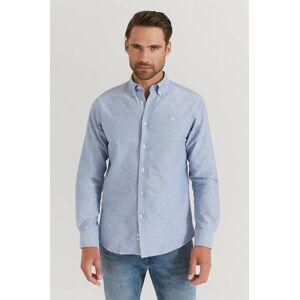 Morris Klær Skjorter Ensfargete skjorter Male Blå