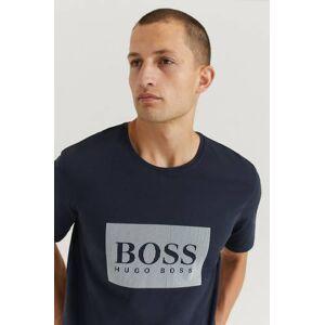Boss Klær T-shirt T-shirts med logo eller trykk Male Blå