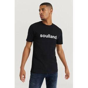 Soulland Klær T-shirt Ensfargete T-shirts Male Svart