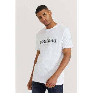 Soulland Klær T-shirt Ensfargete T-shirts Male Hvit