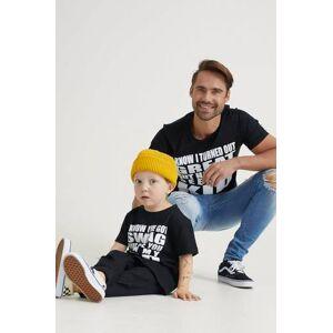 Studio Total Klær T-shirt T-shirts med logo eller trykk Male Svart
