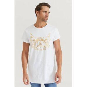 Adrian Hammond Klær T-shirt T-shirts med logo eller trykk Male Hvit