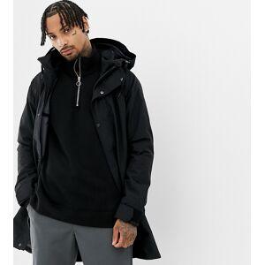 Didriksons Odd parka jacket in black - Black