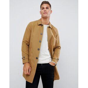 Burton Menswear mac in camel - Camel