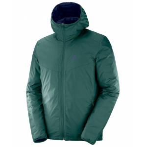 Salomon Drifter Loft Hoodie - Jakke - Green Gab/Night Sky - S