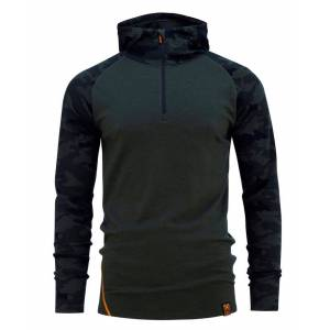 Bula Camo Merino Wool HZ Hood - Trøye - Olivengrønn - XL