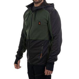 Bula Fleece Zip Hood - Jakke - Olivengrønn - XL