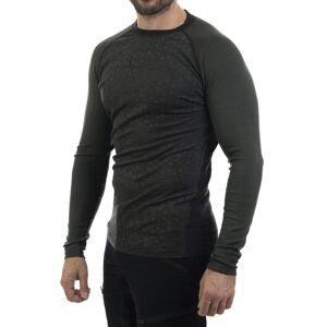Bula Geo Merino Wool Crew - Trøye - Olivengrønn - XL