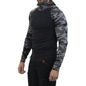 Bula Camo Merino Wool HZ Hood - Trøye - Mørkegrå - XL