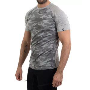 Bula Camo Merino Wool - T-skjorte - Grå - M