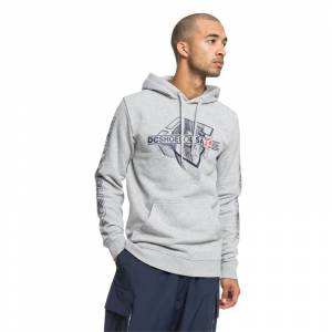 DC PHASER PULLOVER HOOD Grey Heather - XXL