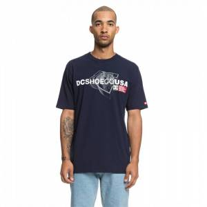 DC STRIP BOX SS TEE Black Iris - S