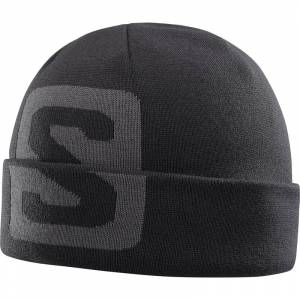 SALOMON BIG FOURAX BEANIE Black/Forged Iron - One size
