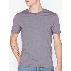 Selected Homme Slhtheperfect Melange Ss O-Neck Tee T-skjorter og singleter Mørk lilla