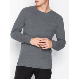 Selected Homme Slhrocky Crew Neck B Noos Gensere Grå