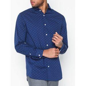 Selected Homme Slhslimsel-Walker Shirt Ls Dobby N Skjorter Mørk blå