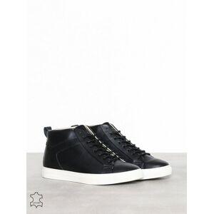 Jack & Jones Jfwneptune Fusion Leather Anthracit Sneakers Svart