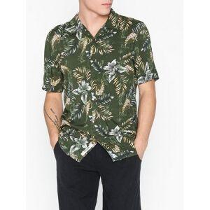 Only & Sons onsTHOMAS Ss Reg Viscose Shirt Re Skjorter Mørk grønn