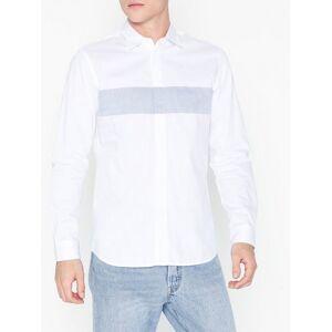 Selected Homme Slhslimblock Shirt Ls B Skjorter Hvit