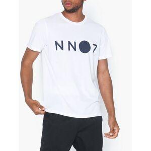 NN.07 Ethan Logo 3208 T-skjorter og singleter White