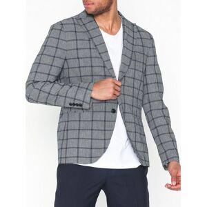 Selected Homme Slhslim-Nik Check Blazer B Blazere & dresser Grå
