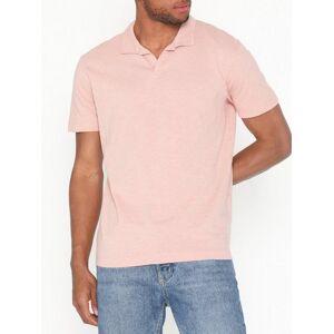 Selected Homme Slhfillipe Ss Polo W T-skjorter og singleter Lys rosa