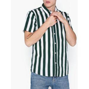 Selected Homme Slhregsailor Shirt Ss Stripes Exp Skjorter Mørk grønn