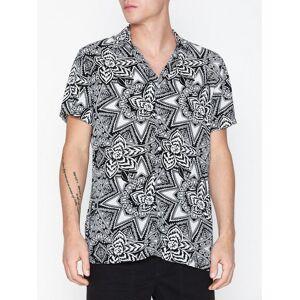 Selected Homme Slhregvega Shirt Ss Aop B Skjorter Hvit
